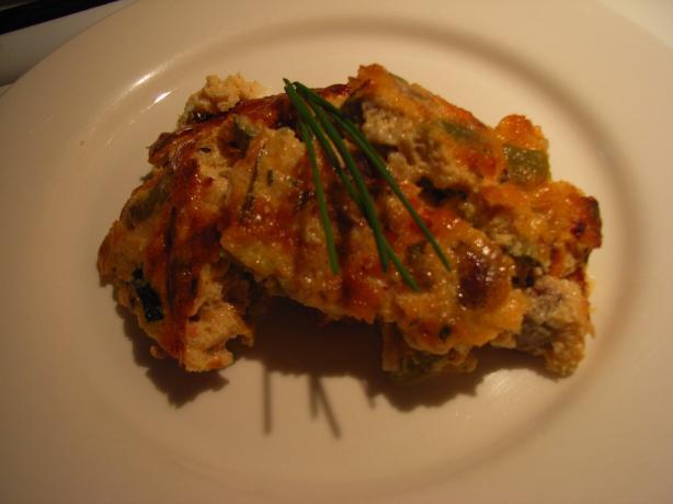 Zucchini Prosciutto and Tomato Slice
