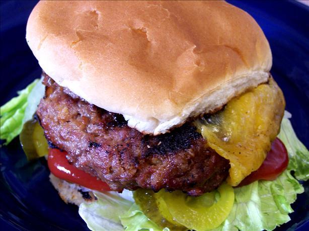 Cheddar Cheese, Pretzel, Beer & Beef Hamburgers