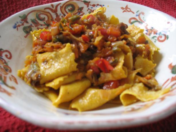 Pappardelle Bolognese Con Verdure