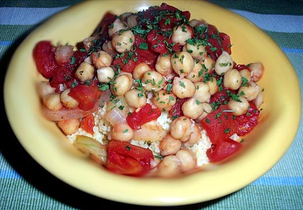 Stewed Tomatoes and Garbanzo Beans
