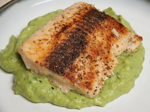 Pan-Seared Salmon With Avocado Remoulade