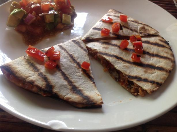 Grilled Black Bean Burger Quesadillas