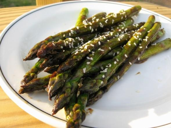 Fresh Asparagus in Oyster Sauce