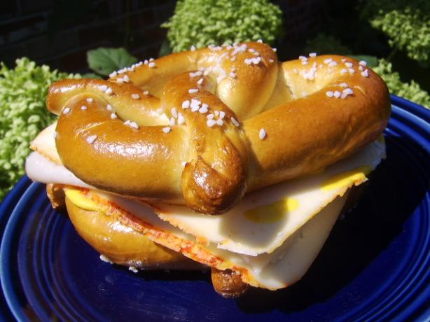 Cheese and Soft Pretzel Sandwich