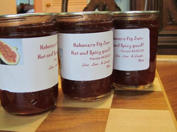 Habanero Fig Jam-Hot and Spicy Good!