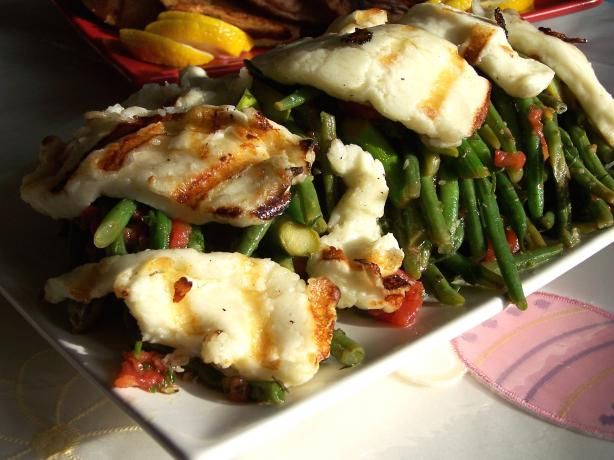 Roasted Halloumi, Bean, Tomato and Asparagus Salad