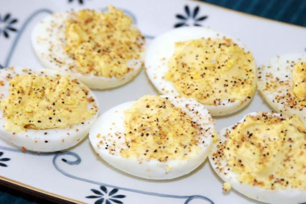Old Drover's Inn Stuffed Eggs With Hickory-Smoked Salt