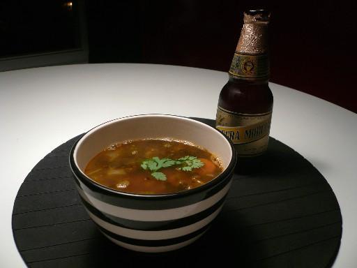Negra Modelo Chorizo & Black Bean Soup