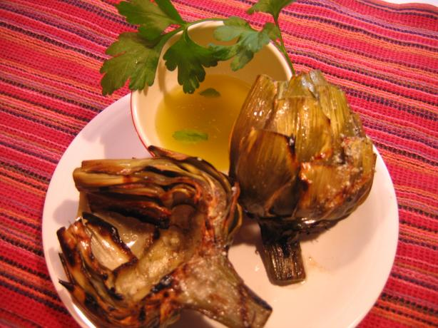 Killer Grilled Artichokes With Garlic and White Wine Butter