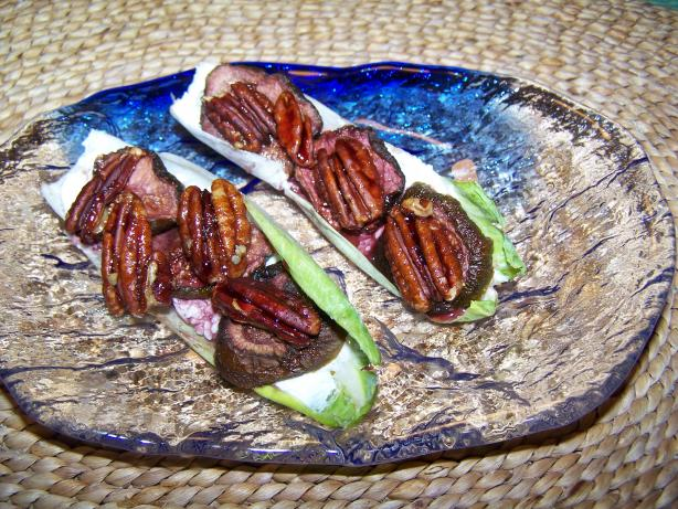 Endive with Goat Cheese, Fig and Honey-Glazed Pecans