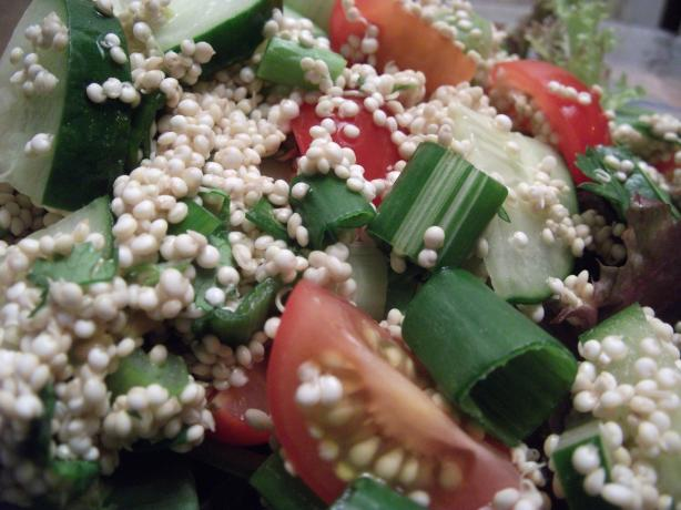 Really Fresh Raw Quinoa Salad (Raw, Vegan, Gluten Free)