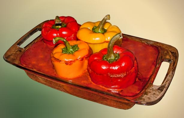 Stuffed Peppers With Black Beans