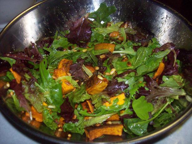 Butternut, Arugula and Pine Nut Salad