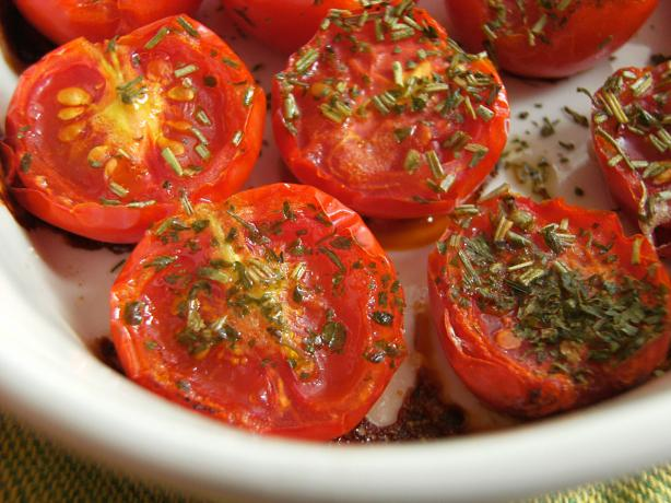 Baked Baby Roma Tomatoes