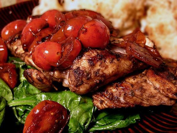 Herb Chicken with Warm Vinaigrette