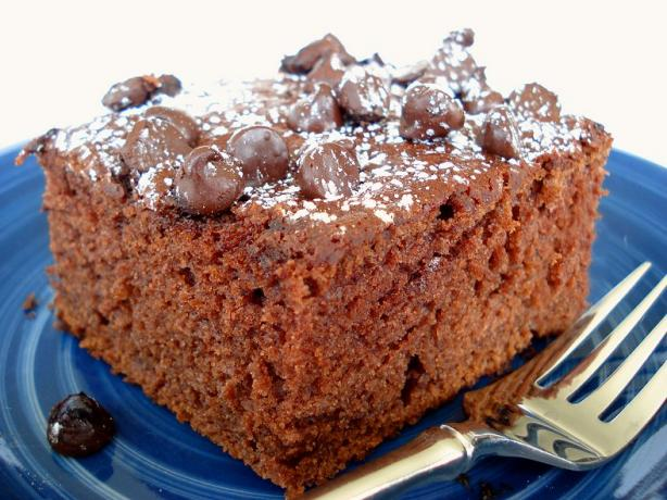 Chocolate Chip Applesauce Cake - Super Moist!