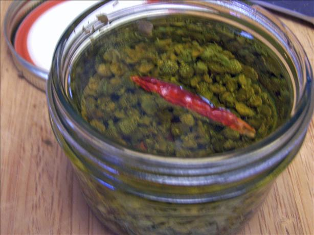 Olive Oil with Capers and Chili Peppers