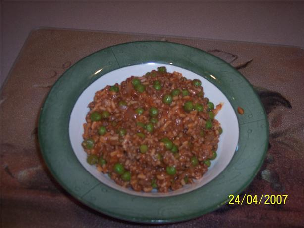 Mom's Hamburger Spanish Rice
