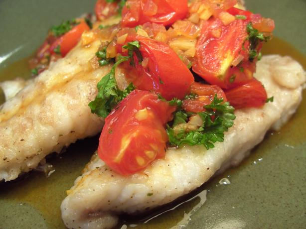 Red Snapper With Tomato-Saffron Vinaigrette
