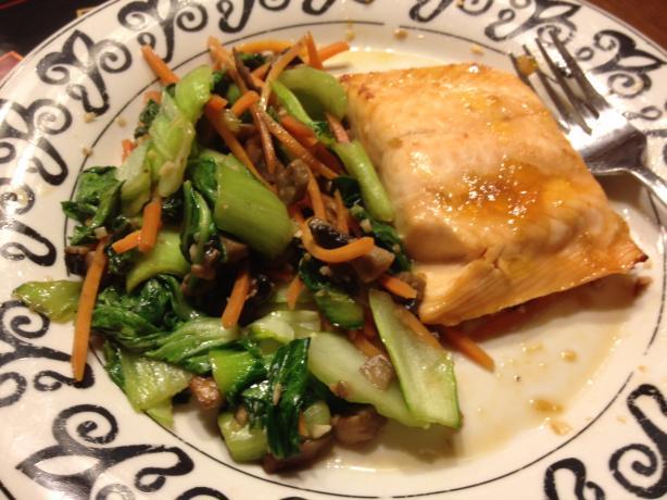 Ginger-Soy Salmon & Bok Choy