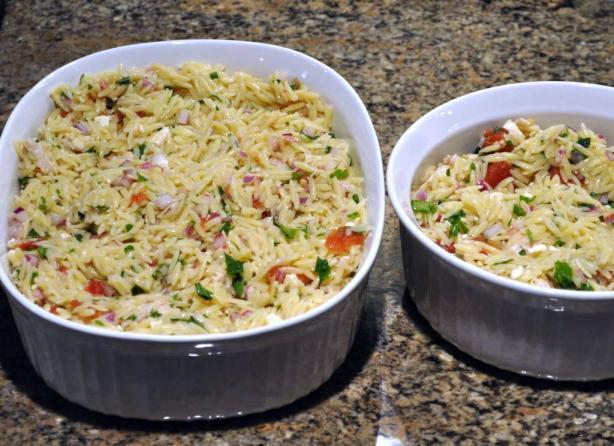 Chicken Feta and Orzo Salad