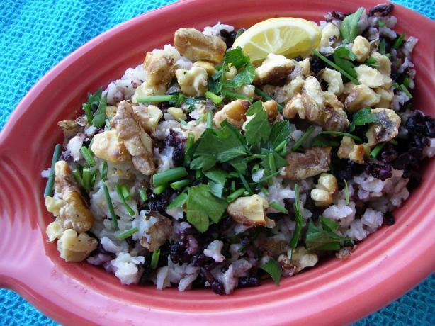 Wild Rice and Walnut Pilaf