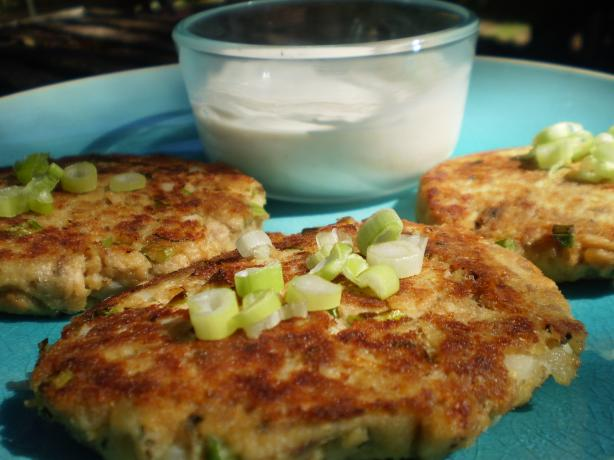 Salmon Cakes With Ginger-Sesame Sauce