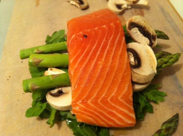 Salmon En Papillote (Asian Twist)