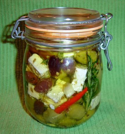 Marinated Olives and Feta
