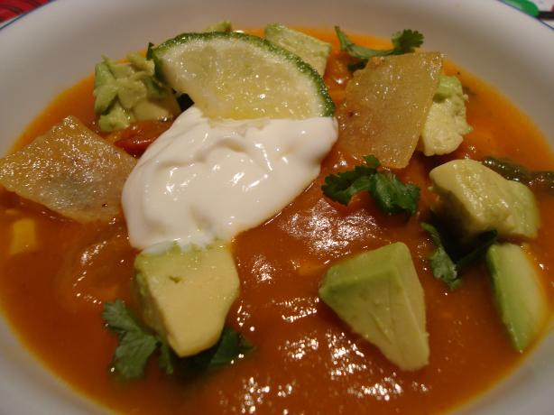 Pumpkin Tortilla Soup Perfection!