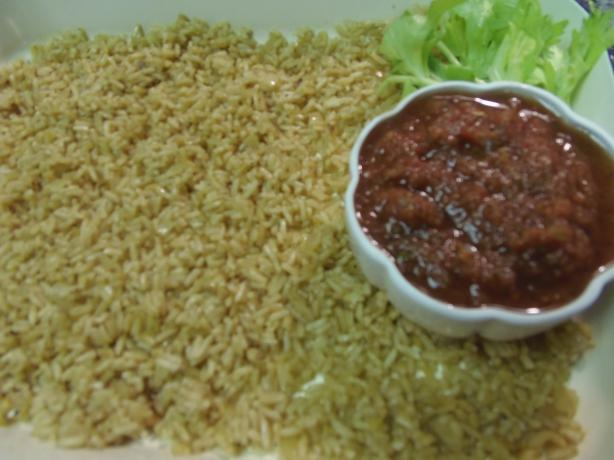 Tex-Mex Mexican Rice and Blender Hot Sauce