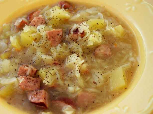 Polish Sausage and Cabbage Soup/Crock Pot