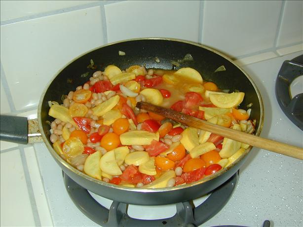 White Bean & Veggie Saute