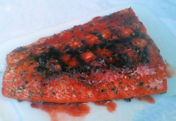 Raspberry Chipotle Grilled Salmon- so Easy--