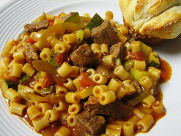Beef and Zucchini Pasta Skillet Meal