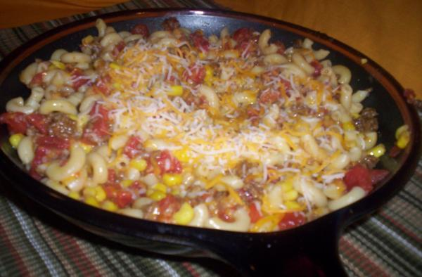 Sloppy Joe Pasta Skillet Dinner