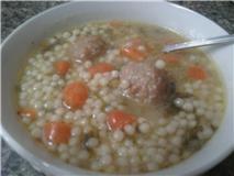 Minestra (Escarole and Little Meatballs Soup)