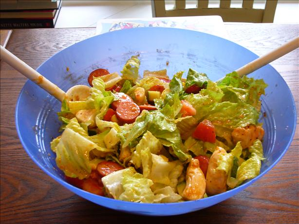 Hot Chicken & Sausage Salad