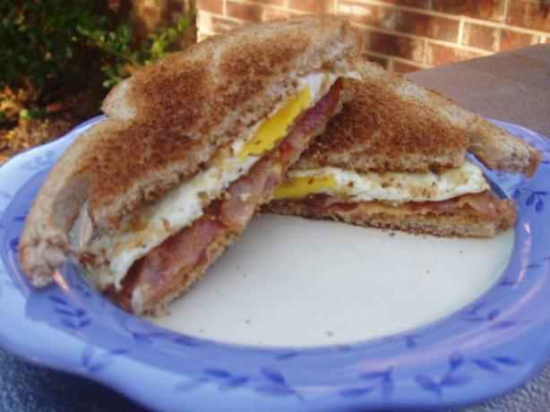 Fried Egg, Bacon & Cheese Sandwich