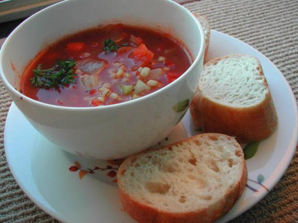 2bleu's Vegetable Barley Soup