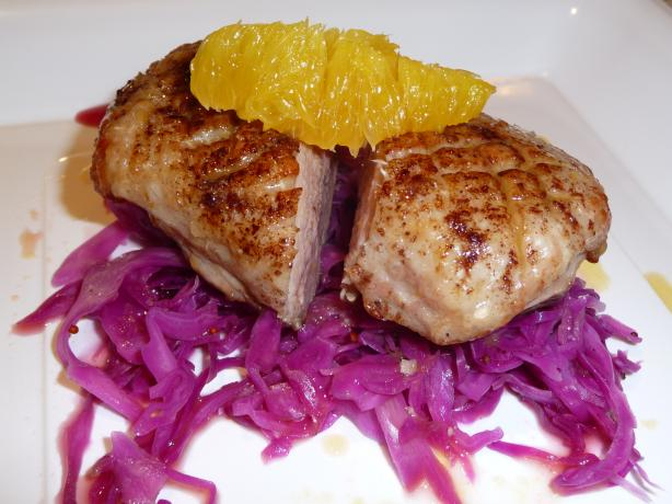 Duck L'orange With Braised Red Cabbage