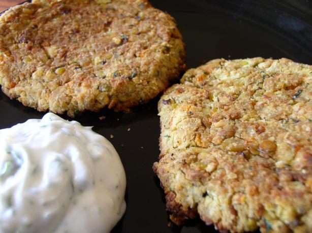 Cumin-Spiced Red Lentil Burgers