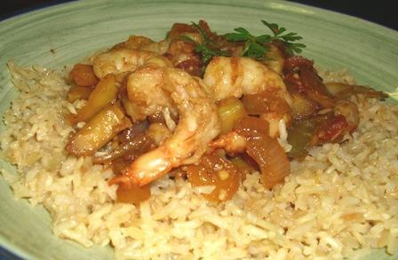 Gazpacho Shrimp Saute