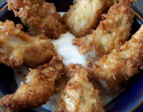 Caesar Crusted Crispy Chicken Strips