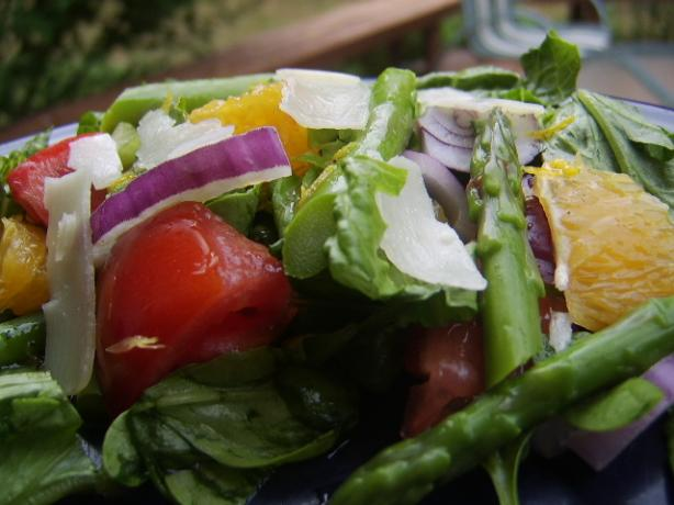 Spanish Asparagus Salad With Orange and Manchego Cheese
