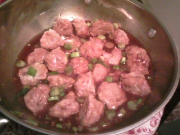 Spicy Apple Glazed Meatballs