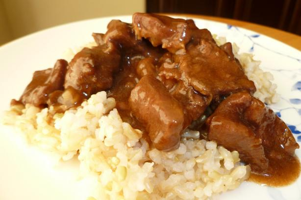 Beef Tips & Gravy With Rice