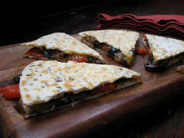Roasted Chili and Portabello Quesadillas