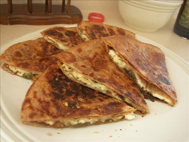 Chicken Souvlaki Quesadilla
