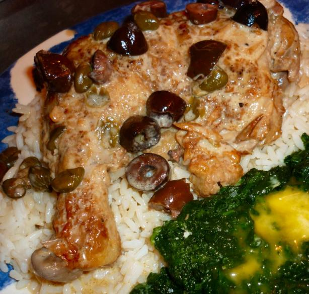 Chicken With Capers and Italian Olives